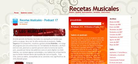 Blogs: Recetas Musicales