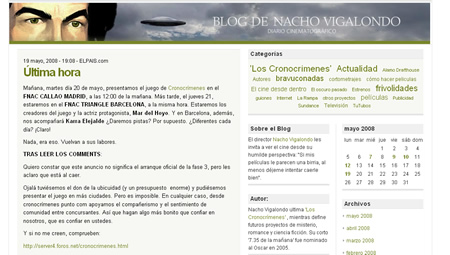 Blogs: Nacho Vigalondo