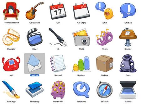 Iconos de Lanham y CandyBar para Mac OS X