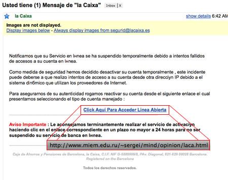 Phishing de La Caixa