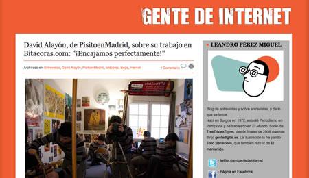"""Entrevista en """"Gente de Internet"""""""