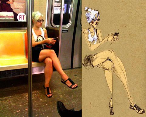David Choe, los bocetos del tren