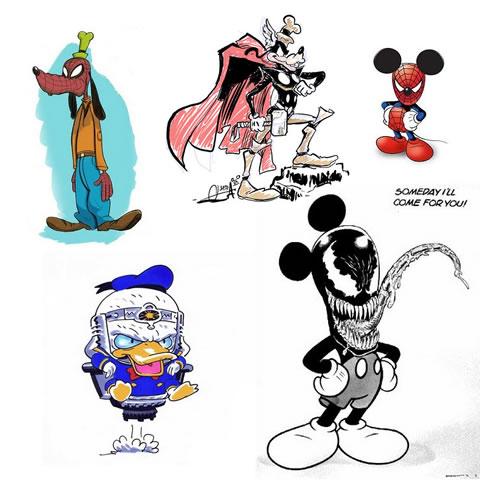 Disney-Marvel mashups