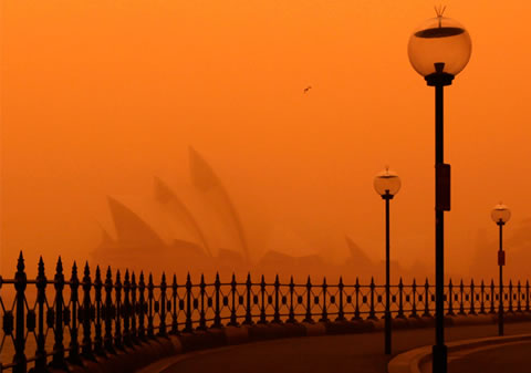 La tormenta roja de Sydney