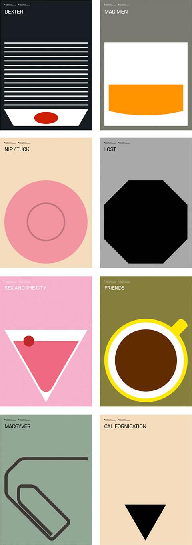 Carteles minimalistas de series