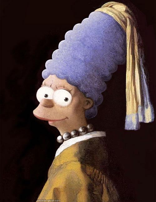 Los Simpsons por grandes pintores