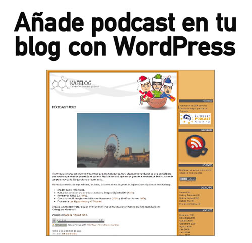 Añade un podcast a tu blog con Wordpress (Personal Computer)