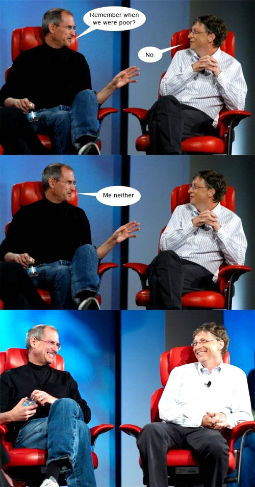 Duos cómicos: Jobs y Gates