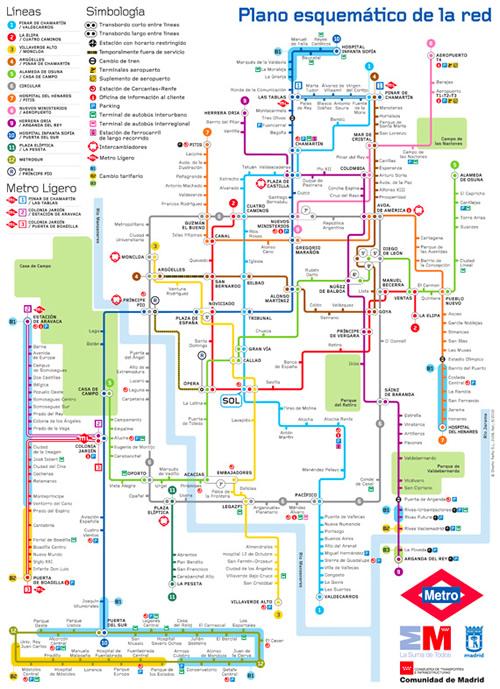 La historia del metro de Madrid en planos