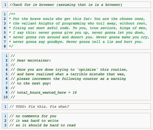 Los mejores comentarios de código de programadores