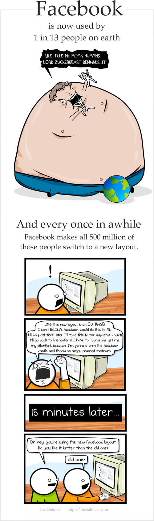 Estado de la Web (The Oatmeal)
