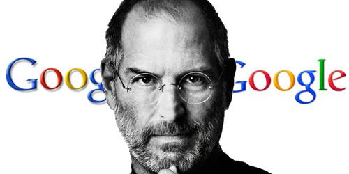 Steve Jobs y el color erróneo del logo de Google