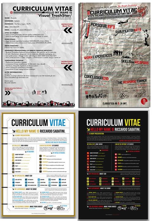 curriculums creativos