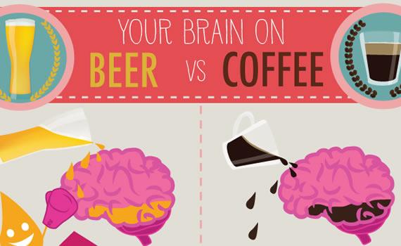 Cerveza vs Café: ¿cómo afectan a nuestro cerebro? (infografía)