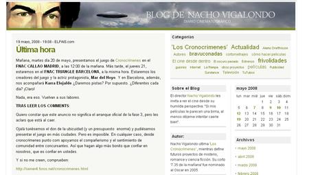 Blogs: Nacho Vigalondo