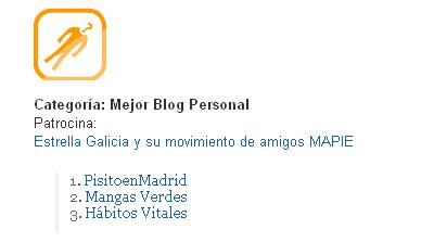 Premio Bitacoras.com al Mejor Blog Personal