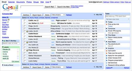 GCalendar, GReader y RTM en Gmail