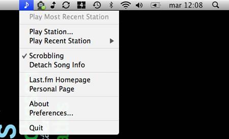 Amua y Lastify, Last.fm en Mac