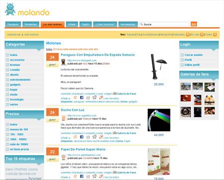 Molando.net, el agregador de productos molones