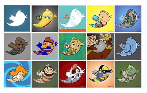 Los avatares de Twitter de Adam Koford