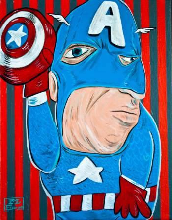 Superhéroes al estilo Picasso