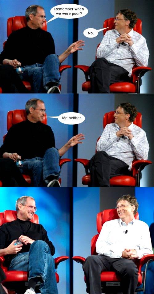 Duos cómicos: Jobs y Gates