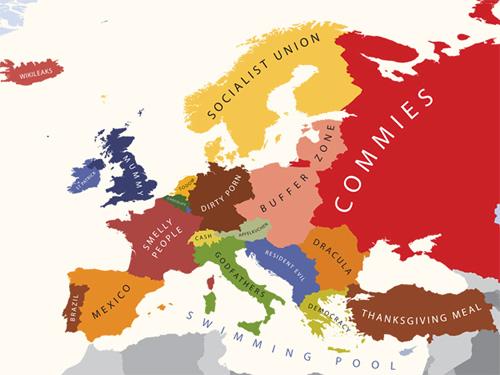 Los estereotipos de Europa en mapas