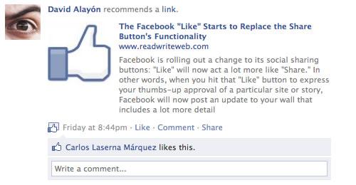 Facebook News: likes y comentarios