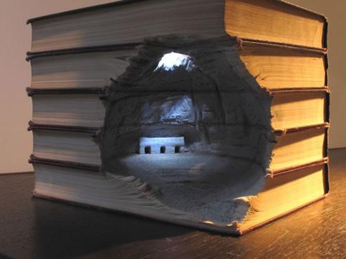 Guy Laramée y Nicholas Jones, esculturas con libros
