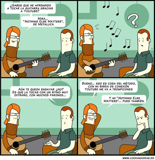 Aprendiendo guitarra con YouTube (Coomic)