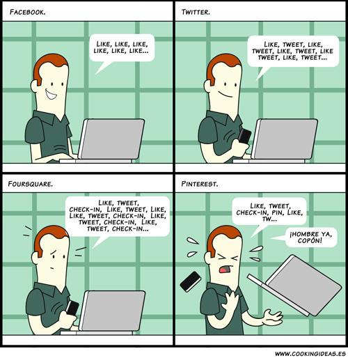 Like, Tweet, Check-in, Pin (Coomic)