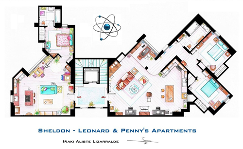 TV Floorplans, planos de pisos de series
